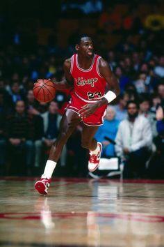Michael Jordan. Tongue Out. Nike Air Jordan I.