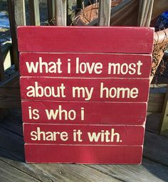 What I love Most SLAT SIGN CUSTOM Distressed by WeHaveAGreatNotion, $55.00