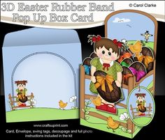 **COMING SOON** -  This lovely Easter Rubber Band Pop Up Box Card kit will be available here within 2 hours - http://www.craftsuprint.com/carol-clarke/?r=380405