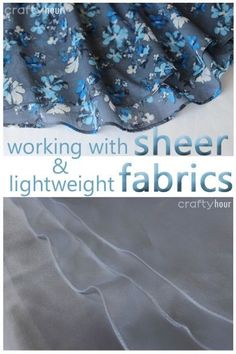 Tips and examples on how to hem sheer and lightweight fabrics such as organza and chiffon. http://so-sew-easy.com/hem-sheer-or-lightweight-fabrics/?utm_content=bufferba155&utm_medium=social&utm_source=pinterest.com&utm_campaign=buffer#_a5y_p=3842397