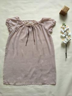 New in Store Now - Nightdress/Babydoll/Nightie/Chemise - Dusky Pink Sheer Chiffon - Vintage Style - Handmade to Order - Vieli Designs