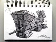 SpaceshipADay 114, Jeff Zugale on ArtStation at https://www.artstation.com/artwork/spaceshipaday-114