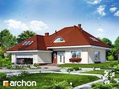 Behance :: Create Project Dom w arbuzach Dom jednorodzinny parterowy z poddaszem użytkowym. Do dyspozycji: 5 pokoi, kuchnia, 2 łazienki, kotłownia, garderoby, kominek. Więcej na: http://archon.pl/gotowe-projekty-domow/dom-w-arbuzach/m461b6778af37c