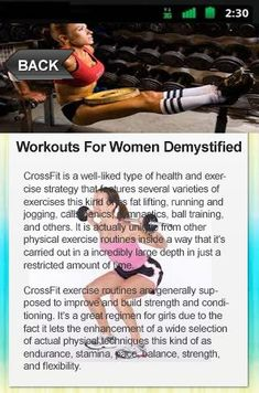 Workouts For Women Demystified   Day by day Workouts Totally free is a great five to thirty minute every day work out regime for guys and women that techniques you through many of the finest physical exercises you are able to do within the ease and comfor