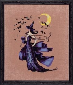 Raven is the title of this cross stitch pattern from Nora Corbett's Bewitching Pixies series.