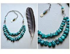 WATER -luxe- turquoise, sterling silver, and labradorite necklace by -hush- found exclusively at elementality