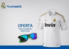 Desconto Camisola Oficial do Real Madrid com Oferta Óculos de Sol