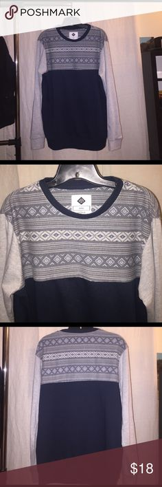 Men's Aztec Design Block Crew Neck Sweater Super unique, great used quality comfortable sweater Cotton On Sweaters Crewneck