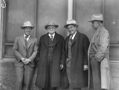 left to right, Frank Hawks, W. Waggoner, Will Rogers, Amon G. Carter [ca. early at Arlington Downs Across The Border, I Luv U, Amon, World Photo, Hawks, Fort Worth, Vintage Photography, 1930s, Boss