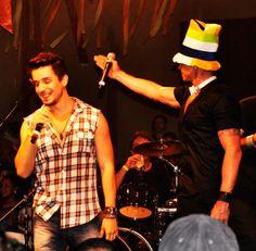 Netinho em seu show na Fundição Progresso no Rio de Janeiro/RJ em dezembro de 2012.