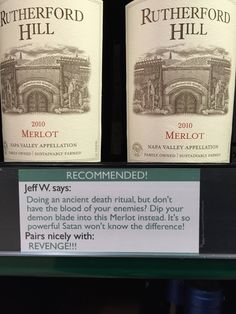 I added some wine recommendations to the liquor store by my house - Album on Imgur