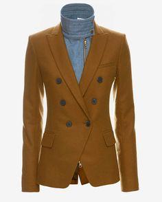 Veronica Beard EXCLUSIVE Denim Dickey Wool Blazer | Shop IntermixOnline.com