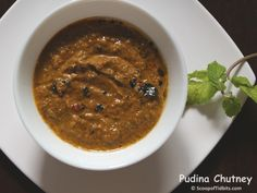 Pudina or Mint Chutney is South Indian style chutney prepared using onion, tomato, and coconut. This chutney makes a really refreshing side dish to Idlis,