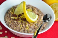 Fitness raňajky s vysokým obsahom bielkovín Granola, Tofu, Smoothie, Oatmeal, Healthy Recipes, Vegan, Breakfast, Diet, Lemon