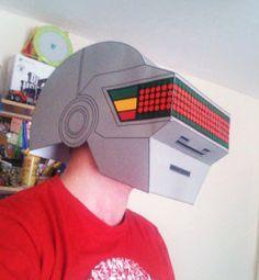Paperized: Daft Punk : Thomas Paper Helmet