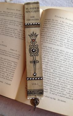Vintage book-spine bookmark
