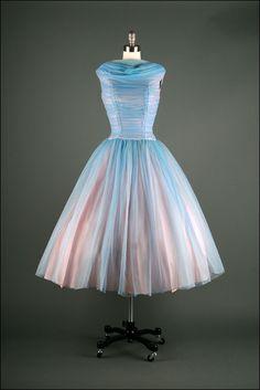50&39s Taupe Satin Vintage Evening Dress  Vintage  Pinterest ...
