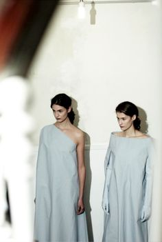 Maison Martin Margiela: Clinical Precision    Kinga Bajor and Caroline Farneman by Rachel Chandler for Dazed & Confused February 2013