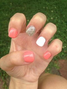 What you need to know about acrylic nails - My Nails White Shellac Nails, Coral Acrylic Nails, Coral Pink Nails, Almond Acrylic Nails, Summer Acrylic Nails, Spring Nails, Summer Shellac Nails, Summer Nails 2018, Neutral Nails