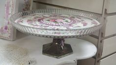 Another example of a Broken China MOSAIC CAKE PLATE   Vintage China Mosaic by thooker