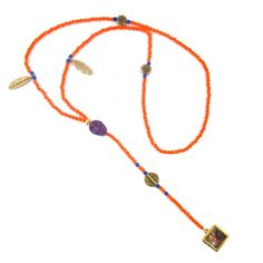 Orange & Purple Mexican Angel Rosary
