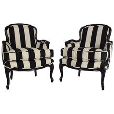 Pair of French Armchairs | From a unique collection of antique and modern armchairs at https://www.1stdibs.com/furniture/seating/armchairs/