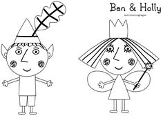 Image result for ben and holly coloring pages pdf