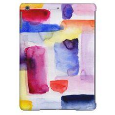 Watercolor Brushstrokes | Color Blocks | Your Custom iPad Case for iPad Air, iPad 2/3/4, iPad mini