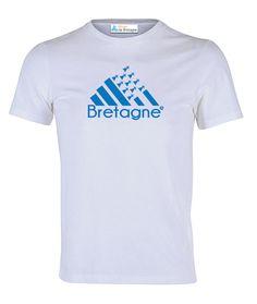 a495d5a8bd7d Tee-shirt avec Drapeau Breton et Bretagne en Bleue - 100 % coton -  Disponible