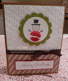 Stampin' Up Christmas Card Gallery | Megumi's Stampin Retreat: Button Buddies Christmas Card