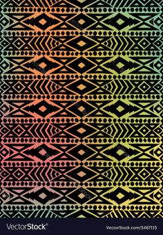 Fantastisch Aztec Tribal Mexican Pattern Vector Image By OlhaKostiuk