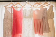 we're loving the idea of  #bridesmaid #dresses that are different but follow the same theme!