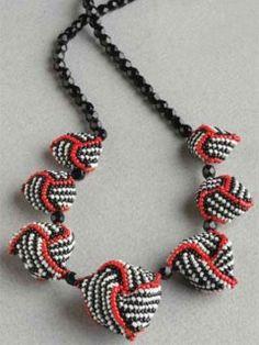 Swirl Beaded-Bead Necklace | InterweaveStore.com