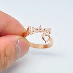Name Ring, Kids Name Ring, Personalized Mom Ring, Bridesmaid Gift, Custom Ring
