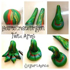 Make Your Own Friesen Style Polymer Clay Dragon – How to Make Arms & Legs Tutorial