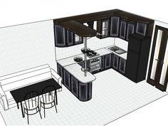 дизайн кухня гостиная прямоугольная