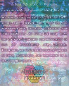 Declaration of Interdependence | by anauthenticpiece