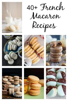 Enjoy this collection of over 40 french macaron recipes. Everyone adores french macarons. They are little almond meringue cookies that can be filled with. by melisa French Macarons Recipe, French Macaroons, French Macaron Flavors, Baking Recipes, Cookie Recipes, Dessert Recipes, Baking Desserts, Frosting Recipes, Just Desserts