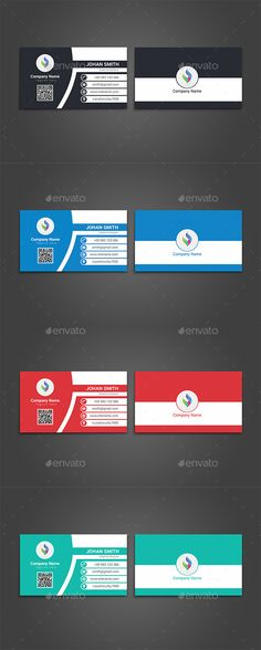 #Corporate #Business Card - Corporate Business Cards Download here: https://graphicriver.net/item/corporate-business-card/19918174?ref=alena994