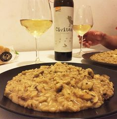 Risotto ai funghi porcini.  #buonacena #risotto #coinquiliniincucina by coinquiliniincucina