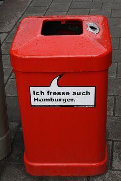 Ich fresse auch Hamburger