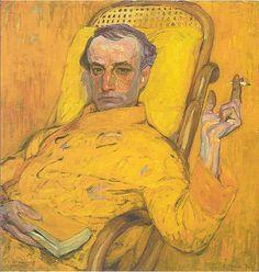 FRANTISEK KUPKA Portrait of Charles Baudelaire (1907)