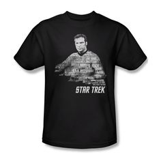 Star Trek Captain Kirk's Words Art Picture Youth Ladies Jr Women Men T-shirt Top #Trevco #GraphicTee