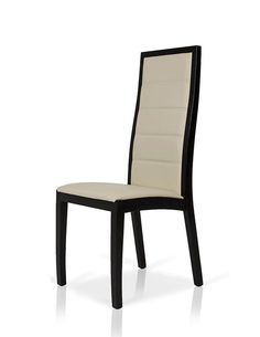Modrest 9007 - Contemporary Cream with Black Oak Dining Chair
