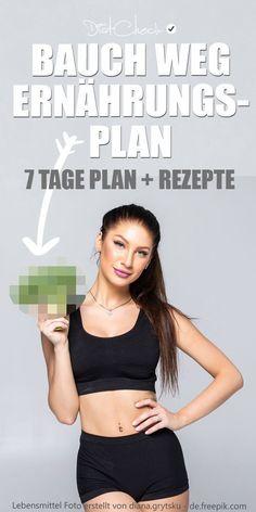 Der Bauch weg Ernährungsplan für eine Woche ist eine echte Geheimwaffe gegen Bauchspeck. Die Ernährung und kalorienreduziert und hilft dir somit beim Abnehmen. Zu dem Ernährungsplan gibt es ebenfalls noch ein paar Rezepte, die ebenfalls beim Fettabbau (auch am Bauch) helfen.