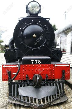 old trains: Front view of a historic steam train Stock Photo Train Pictures, Stock Pictures, Stock Photos, Locomotive Engine, Steam Locomotive, Old Steam Train, Train Art, Old Trains, Train Engines