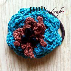 crochet colored flower hair clips @Valeria Buccheri valeria Buccheri