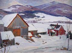 'Vermont Farm in Winter', by Aldro Thompson Hibbard.
