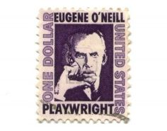 Old Postage Stamps From USA One Dollar   Eugene O Neill Royalty Free