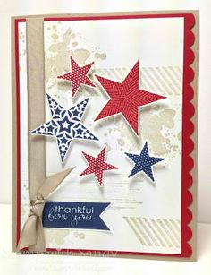 Stampin' Up! Gorgeous Grunge with stars